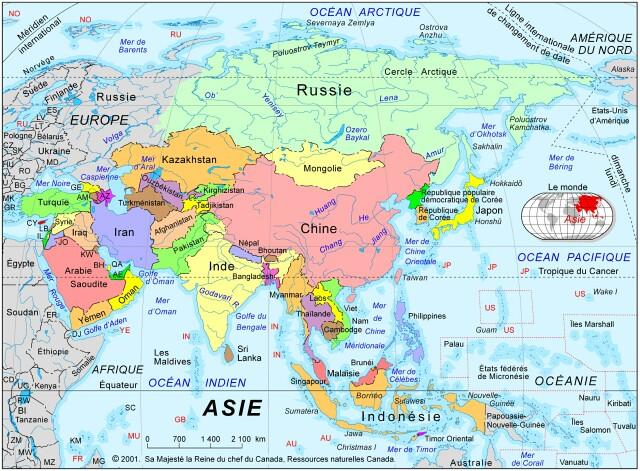 Carte Asie Maldives.Asie Carte De L Asie Toutes Les Destinations Photos Itineraires