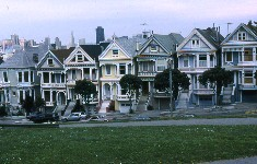 Maisons victoriennes, San Francisco, Californie, USA